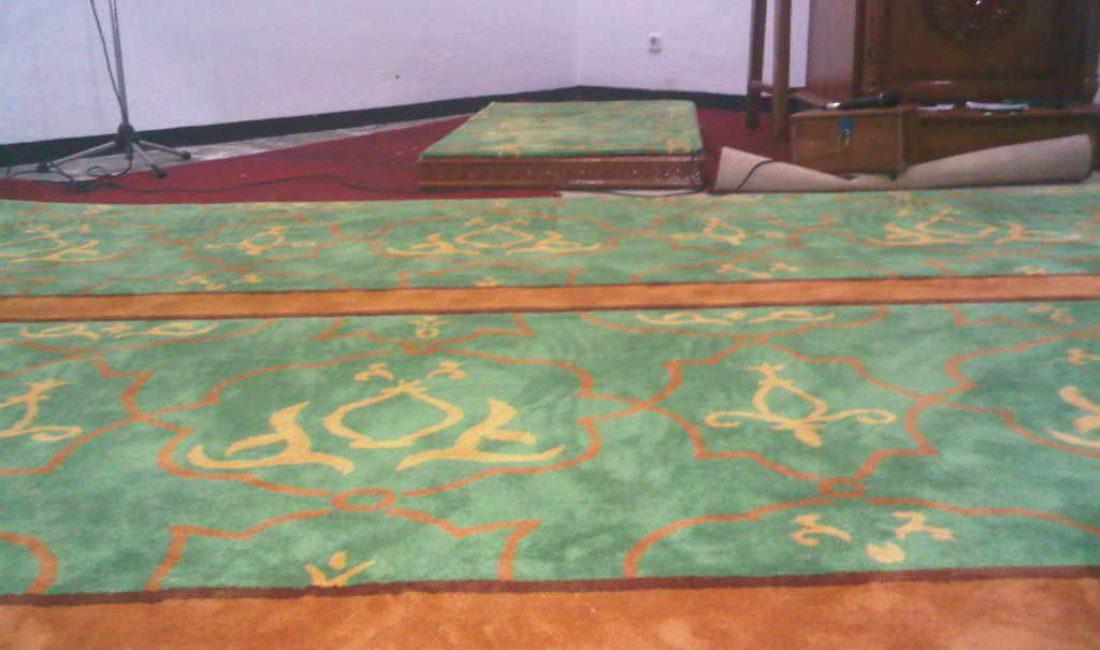 karpet masjid custom made